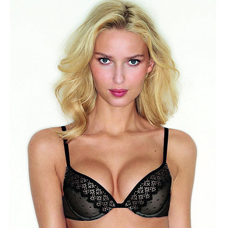 Wonderbra - Black +Pixel Lace+ bra