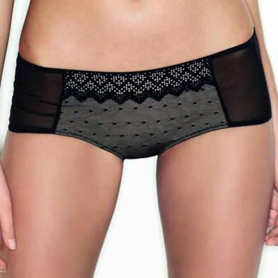 Black Pixel Lace shorts