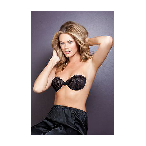 Fashion Forms - Black lace backless strapless bra