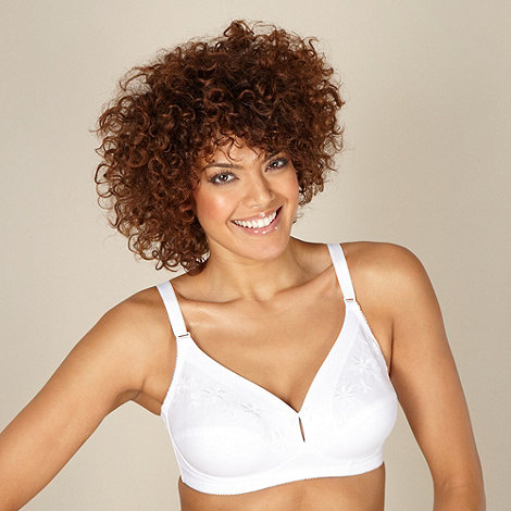 Debenhams - White non-wired support bra