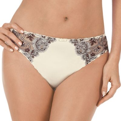 Cream Romantic Desire tai briefs