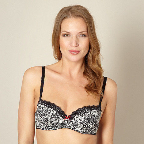 Debenhams - Pack of two black and white balcony bras