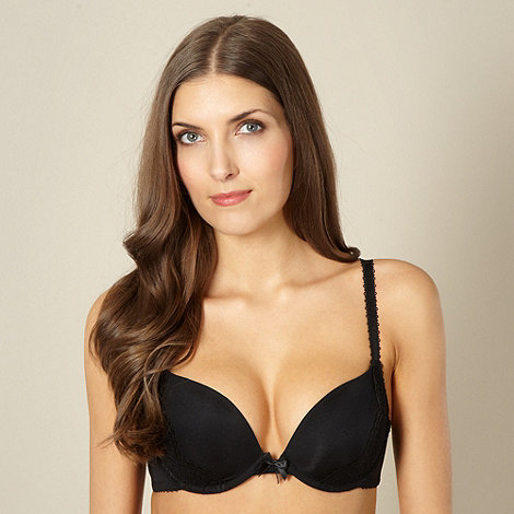 Debenhams - Black lace sling push up t-shirt bra