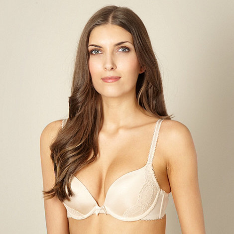 Debenhams - Natural lace sling push up t-shirt bra