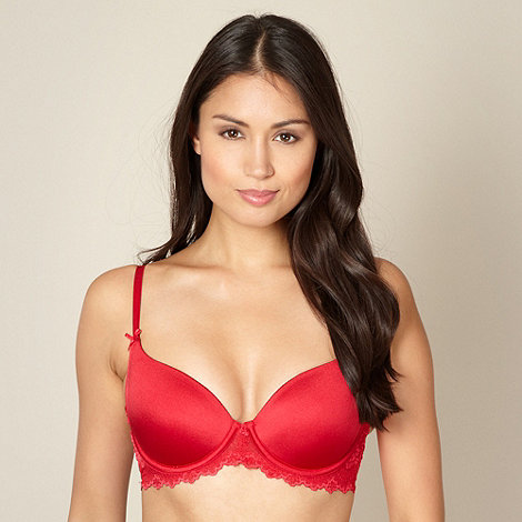 Debenhams - Red lace t-shirt bra