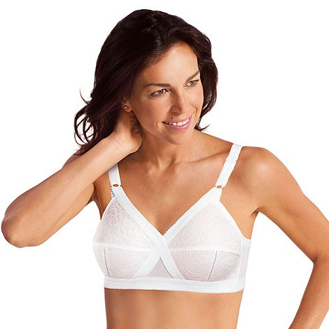 Playtex - Pack of two white +Cross Your Heart+ bras