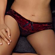 Red 'The One Josephine' brazilian briefs