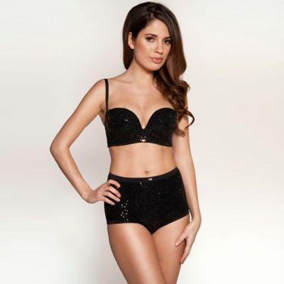 Black EgoBoost strapless sequin bra