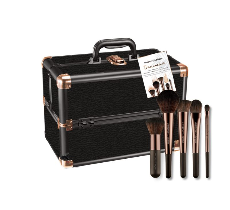 Nude by Nature Destination Pro Make-Up case and brushes