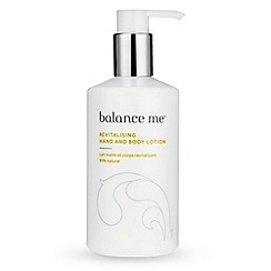 Balance Me - Revitalising Hand And Body Lotion 300ml