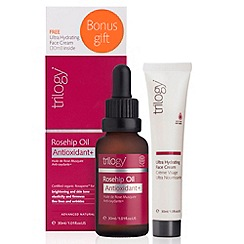 Trilogy - Debenhams Exclusive: Rosehip Oil Antioxidant+ Ultra Hydrating Face Cream Pack