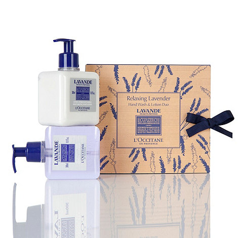 L+Occitane en Provence - +Relaxing Lavande+ hand wash and lotion duo set