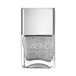 Nails Inc. - Electric Avenue silver glitter nail polish 14ml
