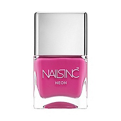 Nails Inc. - Notting Hill Gate neon pink nail polish