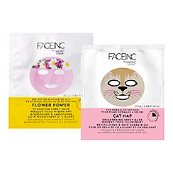 Nails Inc. - 'Face inc by Nails inc' Cat Nap & Flower Power Sheet Masks