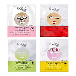 Nails Inc. - 'Face inc Get Your Sheet On - 4 x Face Mask Wardrobe' gift set