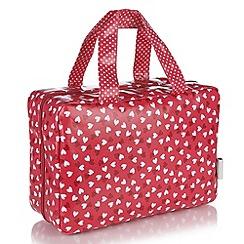 Victoria Green - Debenhams Exclusive: Love Hearts Print Traveller Bag