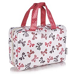 Victoria Green - Debenhams Exclusive: Bow Print Traveller Bag