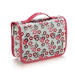 Victoria Green - Debenhams Exclusive: Floral Print Threefold Hanging Bag