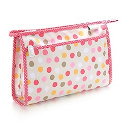 Victoria Green - Debenhams Exclusive: Spot Print Wash Bag