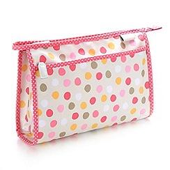 Victoria Green - Debenhams Exclusive: Spot Print Wash Bag