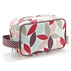 Victoria Green - Debenhams Exclusive: Leaf Print Cosmetics Pouch