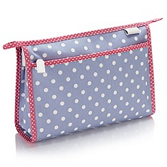 Victoria Green - Debenhams Exclusive: Southwold Polka Dot Wash Bag