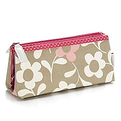 Victoria Green - 'Alice Khaki' folding makeup bag