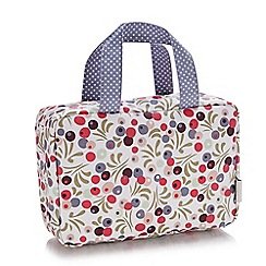 Victoria Green - 'Tilbury Smoke' traveller folding wash bag
