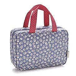 Victoria Green - 'Daisy Smoke' traveller folding wash bag