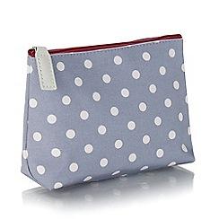 Victoria Green - Grey polka dot print cosmetics bag