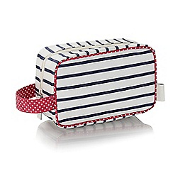 Victoria Green - 'Breton' stripe print cosmetics bag