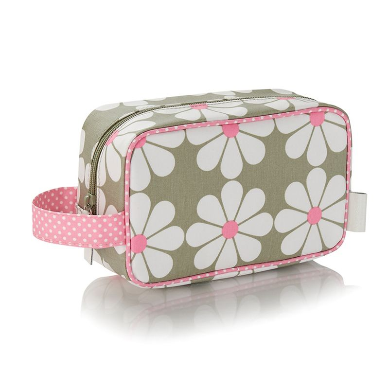 Victoria Green Cream Charlotte Sage cosmetics bag