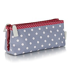 Victoria Green - Polka dot print folding make up bag