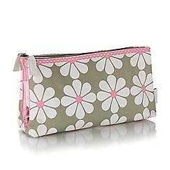 Victoria Green - Charlotte sage print foldover wash bag