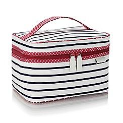 Victoria Green - 'Breton' stripe print vanity bag