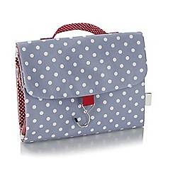 Victoria Green - 'Polka Dot Smoke' threefold wash bag