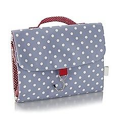 Victoria Green - Polka dot print threefold wash bag