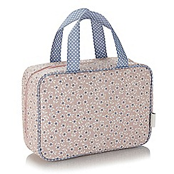 Victoria Green - 'Celia Blush' hanging traveller folding wash bag