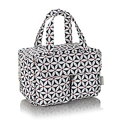 Victoria Green - 'Strarflower Navy' carry all wash bag