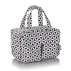 Victoria Green - Navy starflower print wash bag