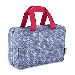 Victoria Green - 'Lace Smoke' folding traveller wash bag