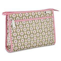 Victoria Green - 'Josephine Sage' wash bag