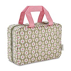 Victoria Green - 'Josephine Sage' folding traveller wash bag