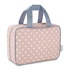 Victoria Green - 'Southwold Blush' hanging traveller wash bag