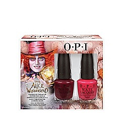 OPI - 'Alice in Wonderland -Mad Hatter' nail polish duo pack