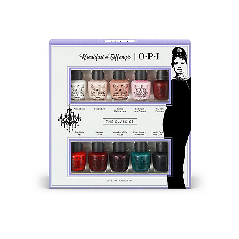 OPI - +Breakfast at Tiffanys Mini+ collection of ten gift set
