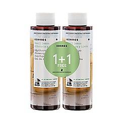 Korres - Basil lemon shower gel 1+1 250ml