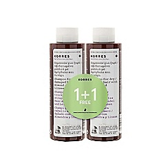 Korres - Almond and Linseed shampoo 1+1 250ml
