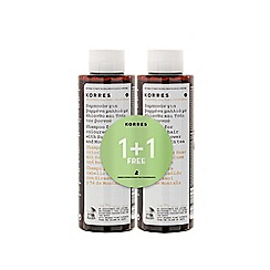 Korres - Sunflower and Mountain Tea shampoo 1+1 250ml